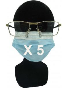 5 Clips anti buée pour masque