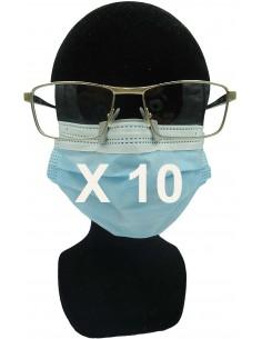 10 Clips anti buée pour masque