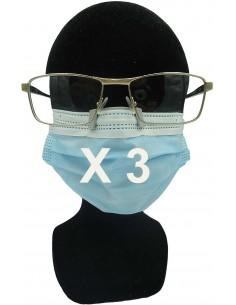 3 Clips anti buée pour masque